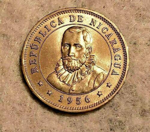 1956 Nicaragua 25 Centavos coin