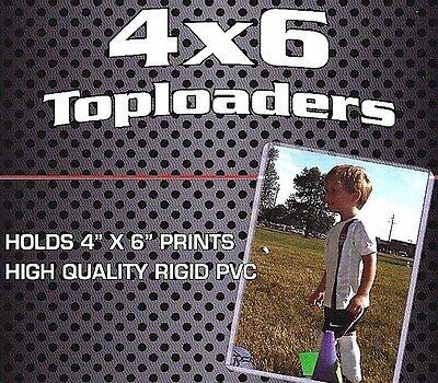 100 New 4X6 Rigid Topload Holder Photo Postcard 4 X 6 Toploader