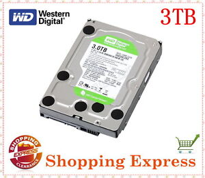 WD Caviar Green 3TB SATA Internal Hard Drive WD30EZRX