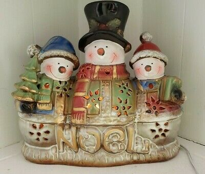 Snowman Light Up Figure Noel Christmas Winter Decor Cut Outs Elements Electric