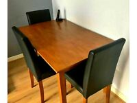 Table & 4 or 6 Leather chairs