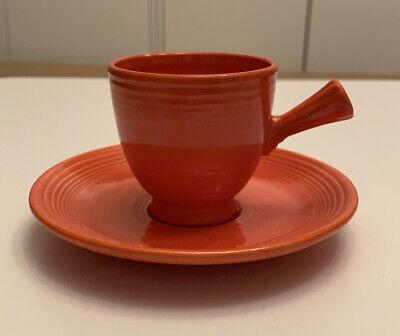 Fiesta Fiestaware Vintage Red Demitasse Cup And Saucer Set
