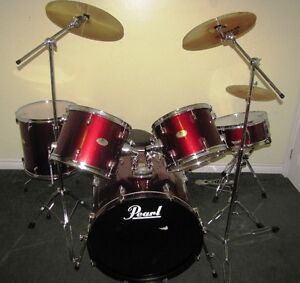 * Nice Maroon Pearl Drum Set for Sale = Take them Home today *