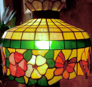 Vintage 1970s Tiffany Style Chandelier (or shade)