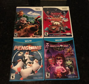 Excellent condition games for Wii and Wii U