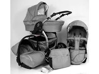 Grey MAKED 3 IN 1 TRAVEL SYSTEM
