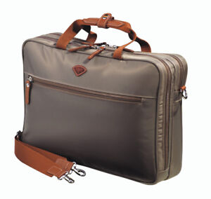 JUMP Briefcase 2 Compartments - COUTURE FABRIC FROM PARIS, FR.