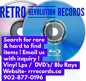 SEARCH out 1,000's of Vintage Vinyl Lps,  Dvd, Blu Ray Titles