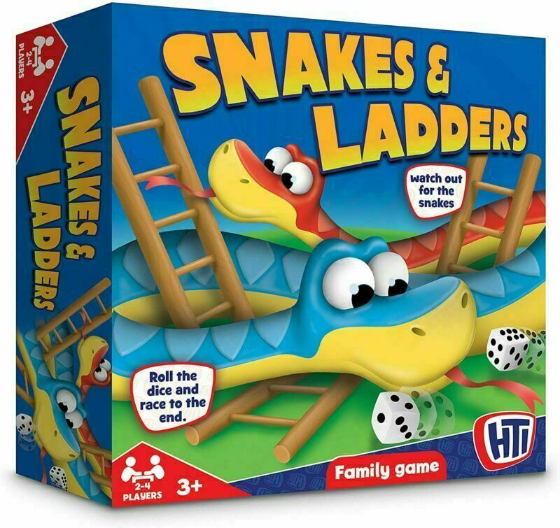 HTI Toys Traditional Games Snakes & Ladders Family Children's Board Game Set New