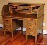 Antique S Style Roll Top Desk