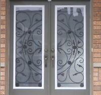 Wrought Iron & Stained Glass Inserts