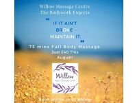 Full Body Massage Offer - Save ��10 with the Massage Therapy Specialists