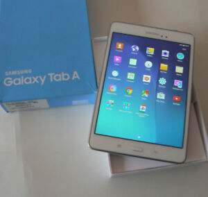 SAMSUNG TAB A 16GB WHITE SILVER QUAD CORE IPS DISPLAY IN BOX