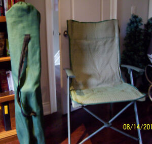 (2) Folding Chairs & Carry Bags