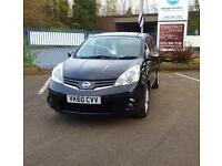 Nissan Note 1.4 2011 N-TEC Hatchback In Black With Low Miles