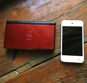 Apple iPod Touch and Nintendo DS Console