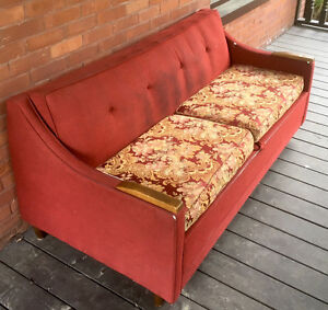 red couch/sofa bed