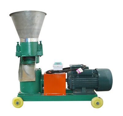 Intbuying Chicken Feed Pellet Mill Machine For Making 8mm 220v 4hp With Wheels