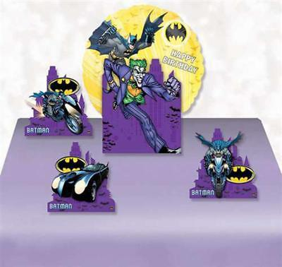 Batman Dark Knight Happy Birthday Balloon Centerpiece 3 Cut Outs Party Supplies](Batman Centerpieces)