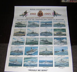 FIGHTING SHIPS OF THE CANADIAN NAVY POSTER  18x24 in