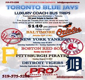 TORONTO BLUE JAYS BUS TRIPS FROM KITCHENER
