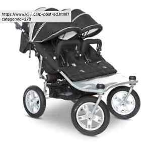 Valco Baby Double stroller with 3rd seat