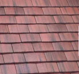 New Marley Concrete Plain Roof Tile Old English Dark Red 275 left