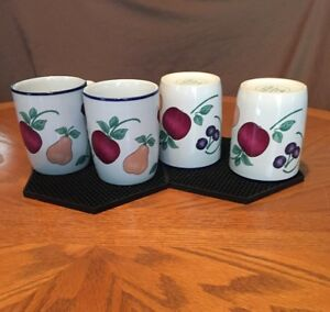 Princess House-Orchard Medley-Ceramic Mugs (2 sets 4) 8 in total