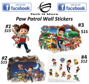 Paw Patrol Big & Small Wall Stickers	(4 Different Stickers)