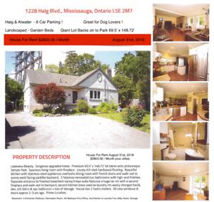 House For Rent - 1228 Haig Blvd Mississaug - $2800.00 / Month