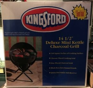 "Kingsford Portable 14 1/2"" Deluxe Mini Kettle BBQ Grill"