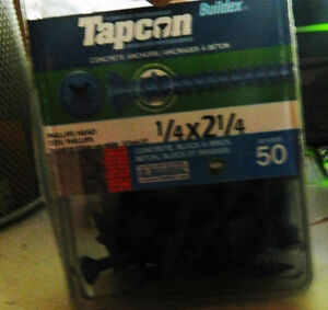vis TAPCON et mèches/ Tapcon screws with 4 drill bits