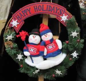 Montreal Canadiens Christmas Wreath