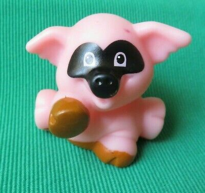 Fisher Price Little People Halloween Pumpkin Party  PIG with MASK  RARE 2010
