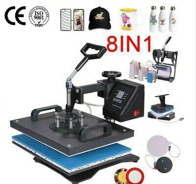 8in1 3038cm Combo Heat Press Machine Sublimation Printer For Tshirtmugcase