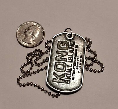 Kong Skull Island Metal Dog Tag Necklace - King Kong - Theater Promo