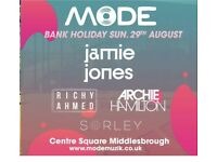2 tickets for Mode @ Middlesbrough (Jamie Jones and Richy Ahmed)