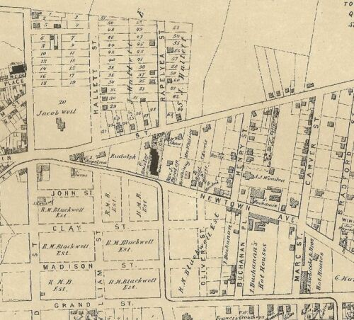 Astoria, NY Middle Village NY 1873 Maps with Businesses & Homeowners Names Shown