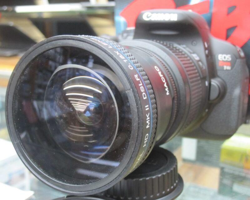 New Super Ultra Wide Angle Macro Fisheye Lens For Canon EOS Digital Rebel Camera