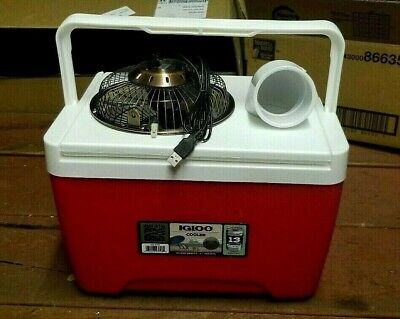"""NEW Igloo 9qt Personal Ice Swamp Cooler Portable Air Conditioner 6"""" USB Fan"""
