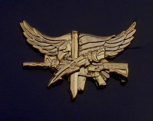 SWAT Operator Insignia with Eagle Center Mass POLISHED GOLD police/sheriff pin
