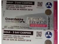 3 DAY GOLD CREAMFIELDS TCIKET (TICKETMASTER)