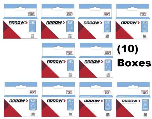 """(10) ea Arrow # 224  (5050) pack 1/4"""" 6mm Staples for P22 Plier Staple Gun"""