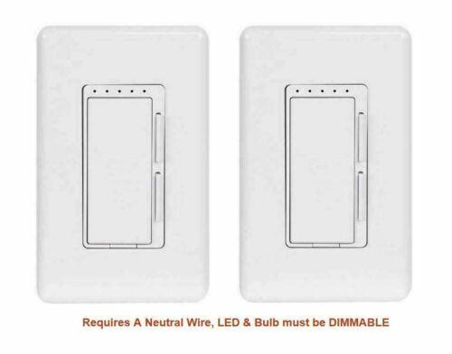 Feit Electric Wi-Fi Smart Dimmer 3-way Switch 2Pk Alexa & Google OPEN/DAMAGE BOX