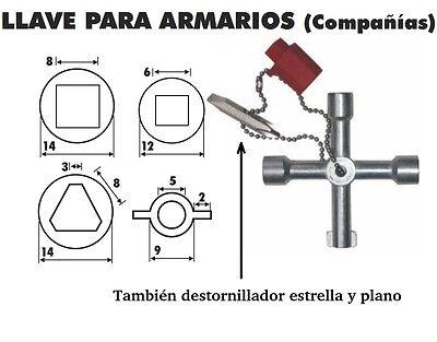 LLAVE TRIANGULAR,CUADRADA... ARMARIOS ELECTRICOS CONTADORES ASCENSORES triangulo