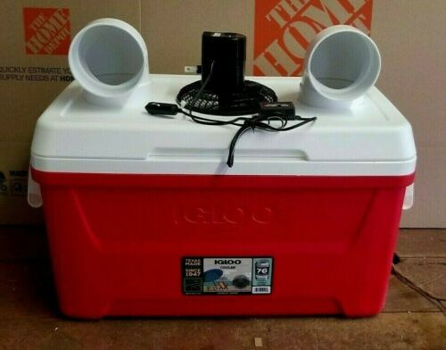 Onos LG 48qt Portable Air Conditioner Car/Truck Boat Ice Swamp Cooler 12V Fan