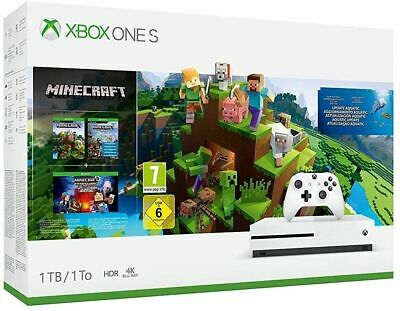 Xbox One S 1Tb Minecraft Console (Xbox One) Brand New Free UK P&P