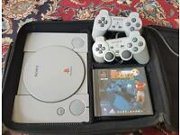 Sony Playstation 1 with Rare carry case.