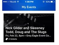 Nick Gilder & Doug and the slugs anTICKETS ARE SOLD THANKS DEAN!