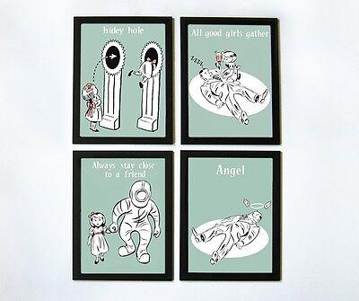 Bioshock Little Sister Educational Posters - Set of 4